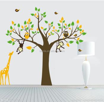 Monkey Tree Giraffe Vinyl Wall Stickers Kids Baby Children Decor Home Wall  Paper Decal Deco Art