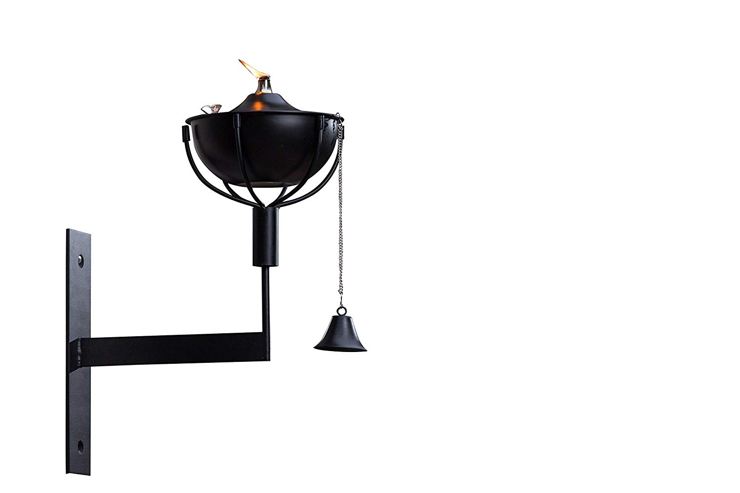 Maui Wall Sconce Landscape torch, Tabletop torch, Deck Mount, Wall Mount, Deck Sconce, Oil Lamp, Lamp, (Smooth Black)