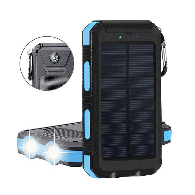 Portabel Mini Solar Charger Bank Daya Ponsel Pintar 10000 mAh Cepat Charger Surya Mini Bank Daya Ramping