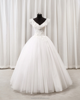 2018 V-Neck Lace Ball Gown Wedding Dress Bridal Gown