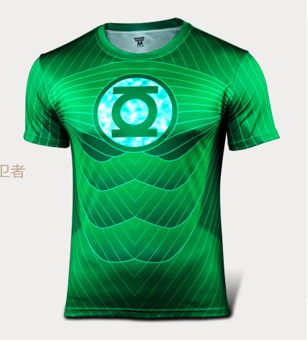 cf713bc8e Get Quotations · Dc Comics Justice League Green Lantern T Shirt Costume  Superhero Jersey Short Sleeves Sport Fitness T
