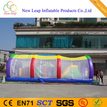 tunnel shape inflatable obstacle course with cover