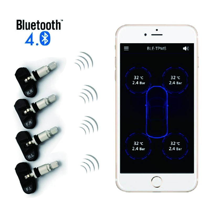 2017 newest bluetooth solar power hud tpms
