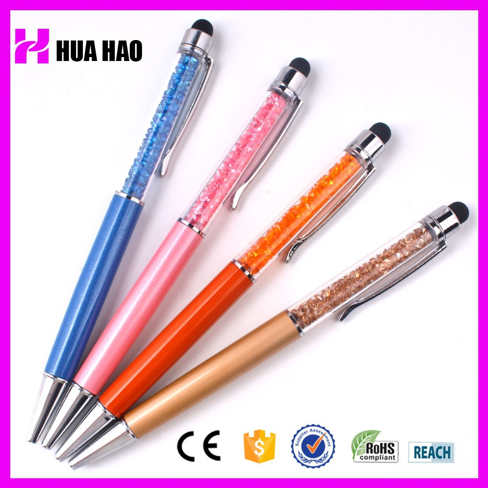 Business manufacturing crystal ball pen diamond ballpoint pens new crystal pen touch