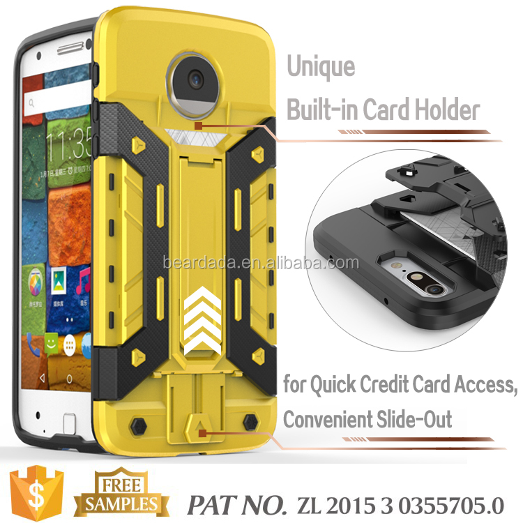 stand card holder mobile phone case for Motorola Moto Z Droid