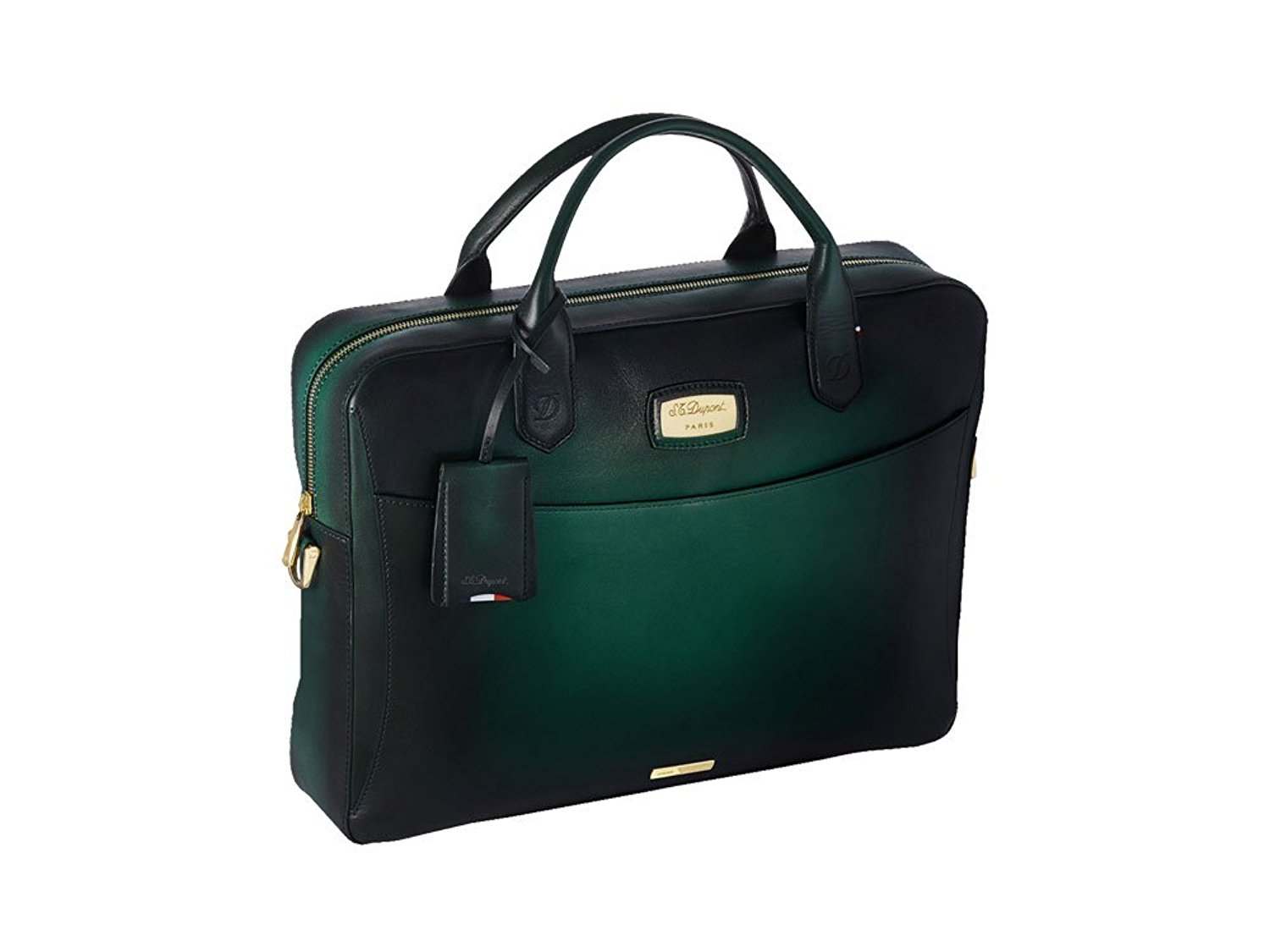 S.T. Dupont Atelier Emerald Document case, Leather, Green, Zip, 191231
