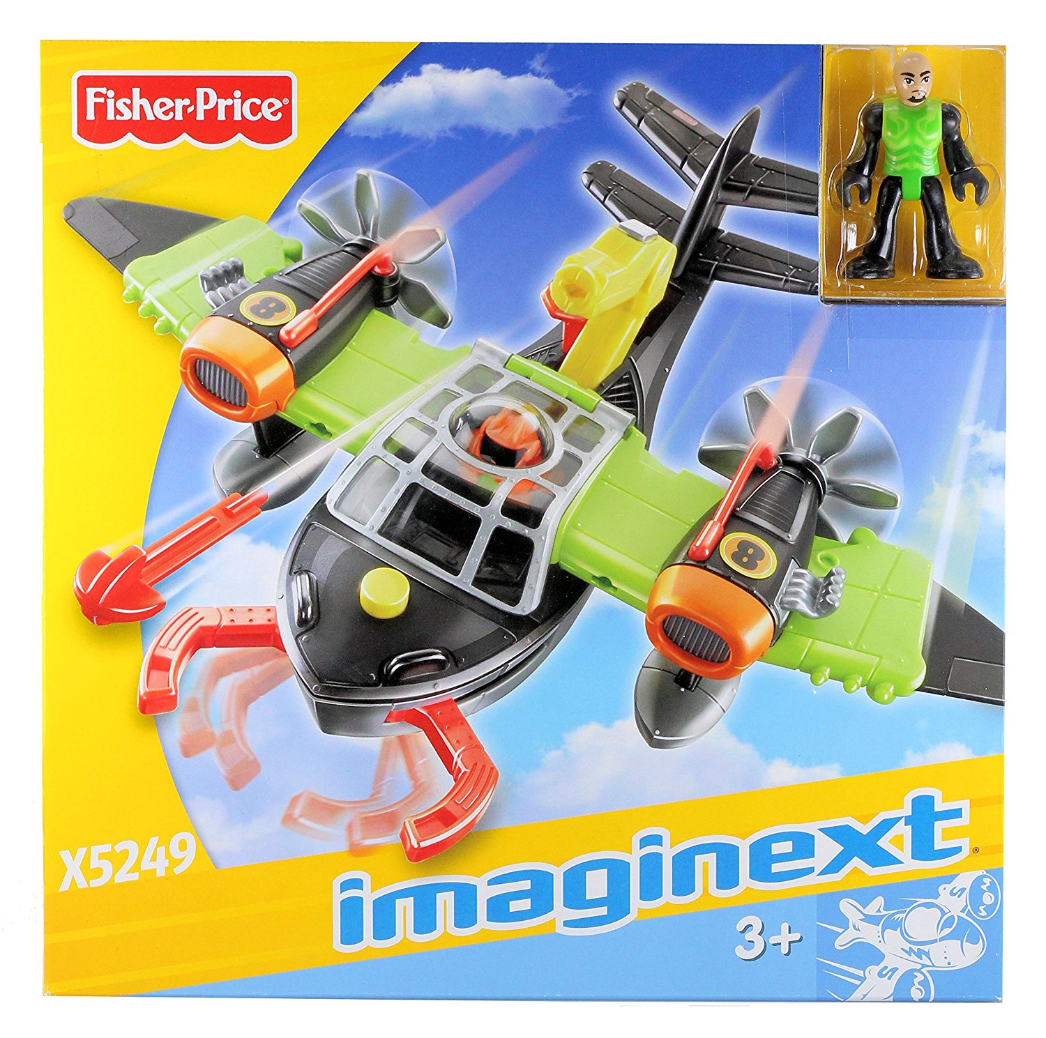 Fisher Price - Imaginext - Sky Racers - Air Scorpion & Pilot by Fisher Price Imaginext