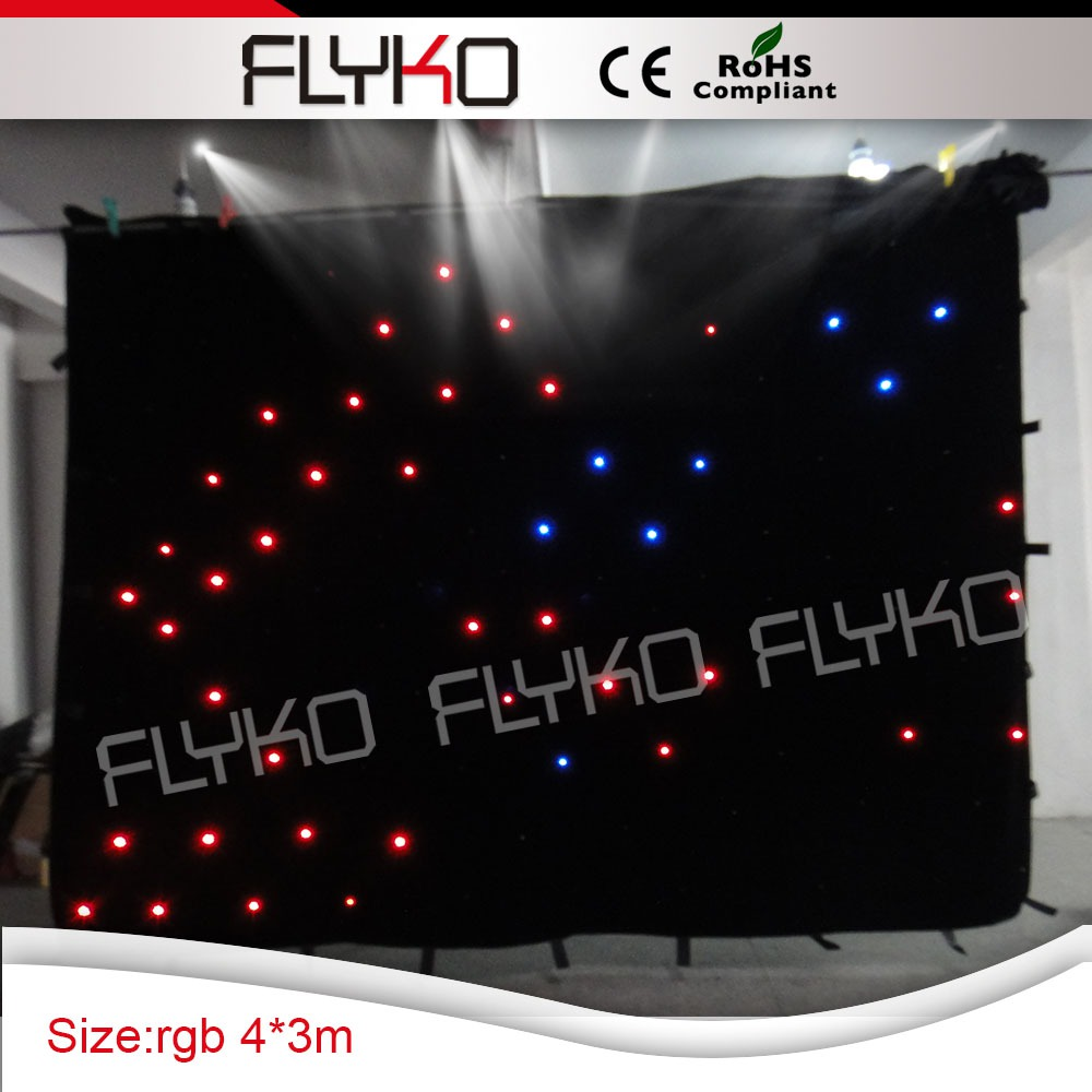 led lamp rechargable star backdrop 3m ht x 4m width lighting equipments star curtain