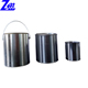 1L 2L 5L small round tin can with tight lid for paint/oil