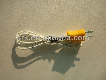 K Multimeter Thermocouple Fiberglass Coated - Buy Thermocouple Fiberglass  Coated,K Multimeter Thermocouple,Multimeter Thermocouple Fiberglass Product