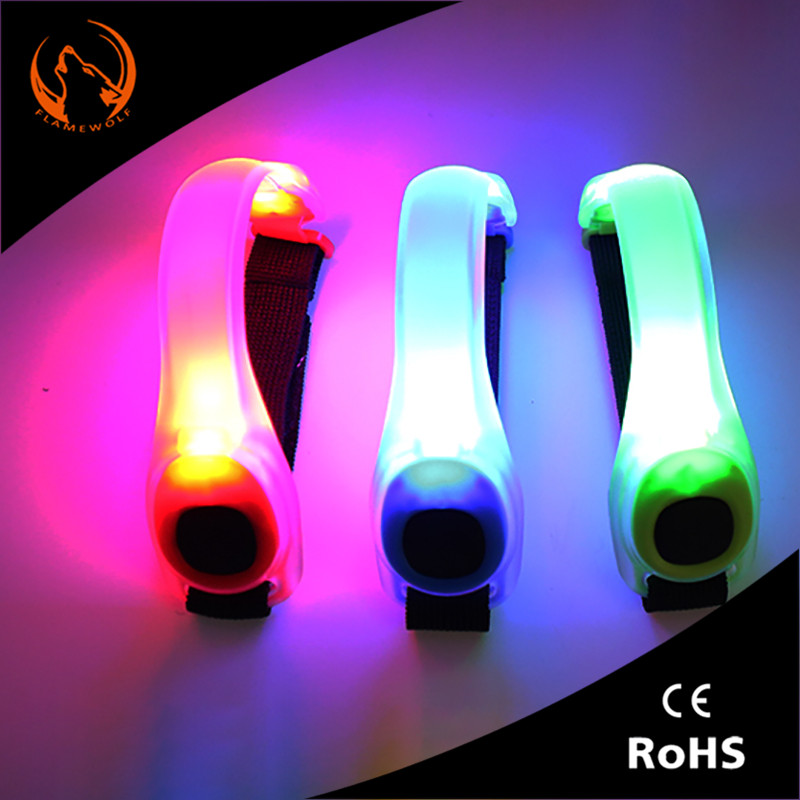 Flame wolf Fluorescent Night Running LED Running Lights Run Luminous Hand Ring Foot Ring
