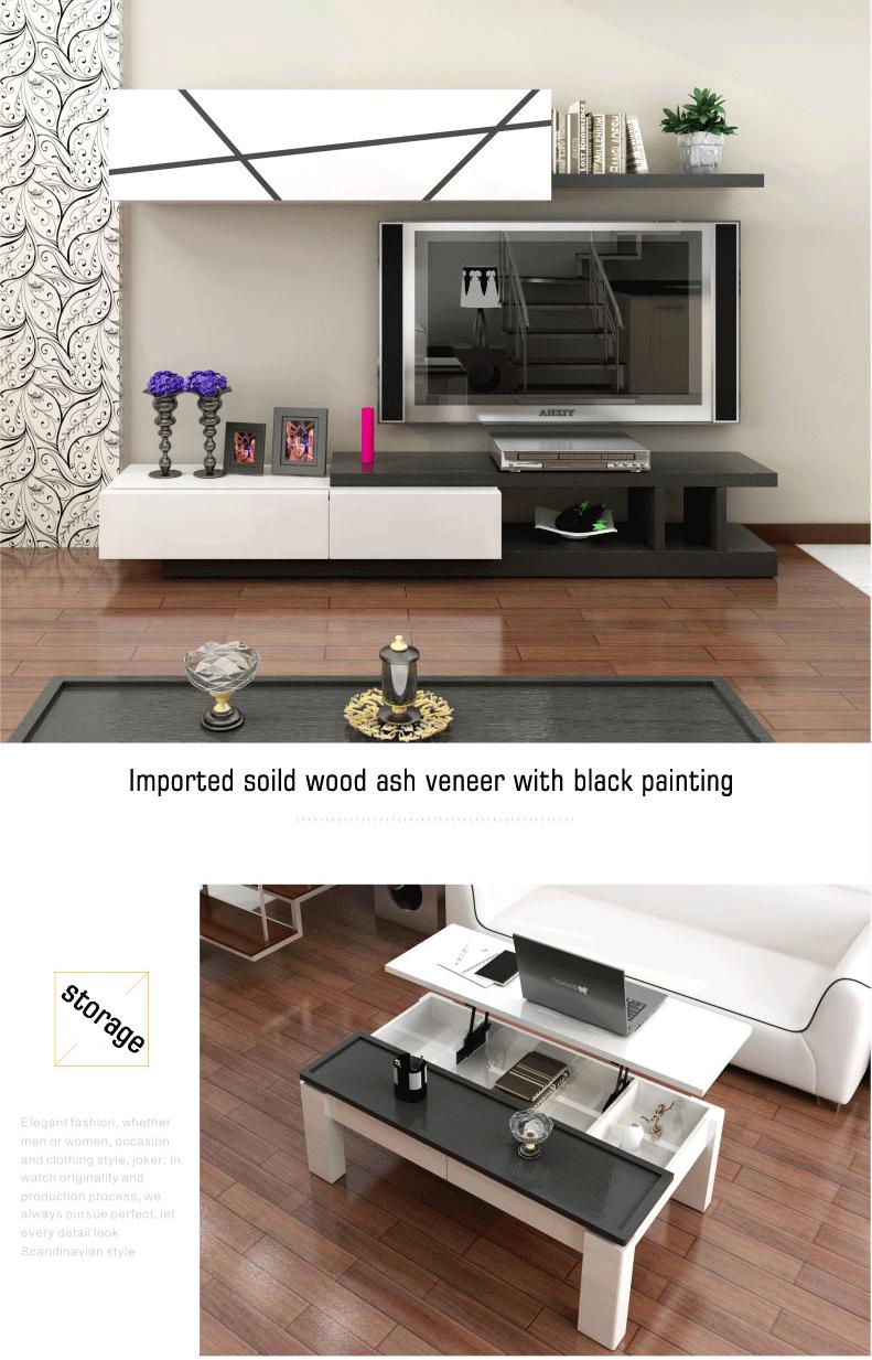 New Model Wooden Lcd Led Tv Cabinet Showcase Living Room