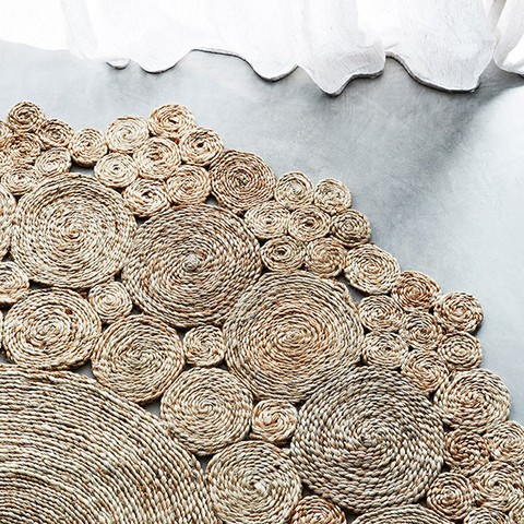 chanvre tress e ronde tapis tapis id de produit 50003562409. Black Bedroom Furniture Sets. Home Design Ideas