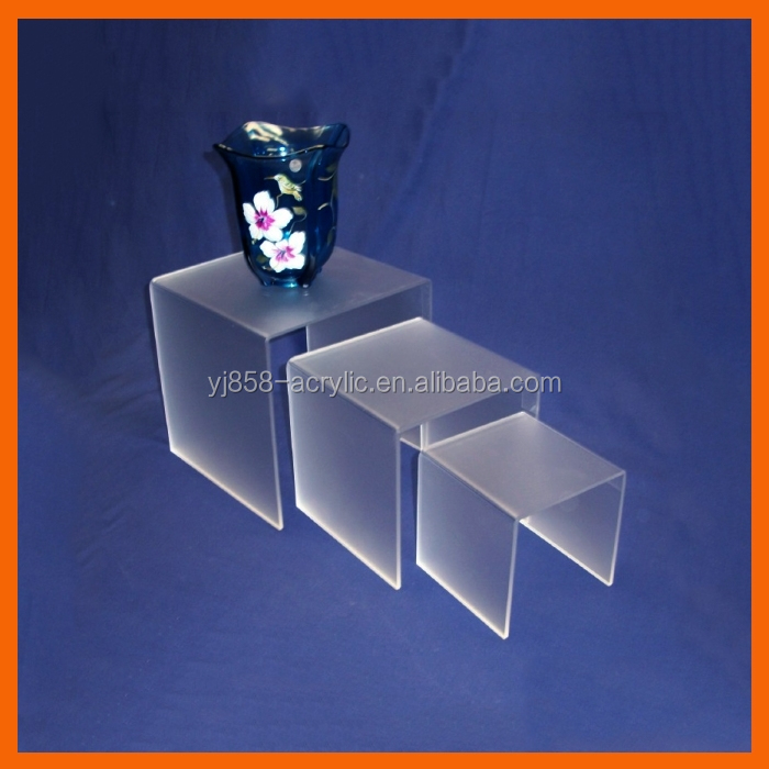 Hot sale plastic clear acrylic mattress footer display