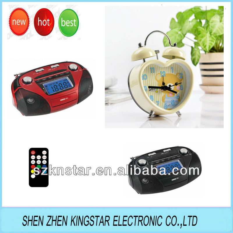 Best Boombox Alarm Clock Radio Speaker With Sd Usb Radio Clock ...