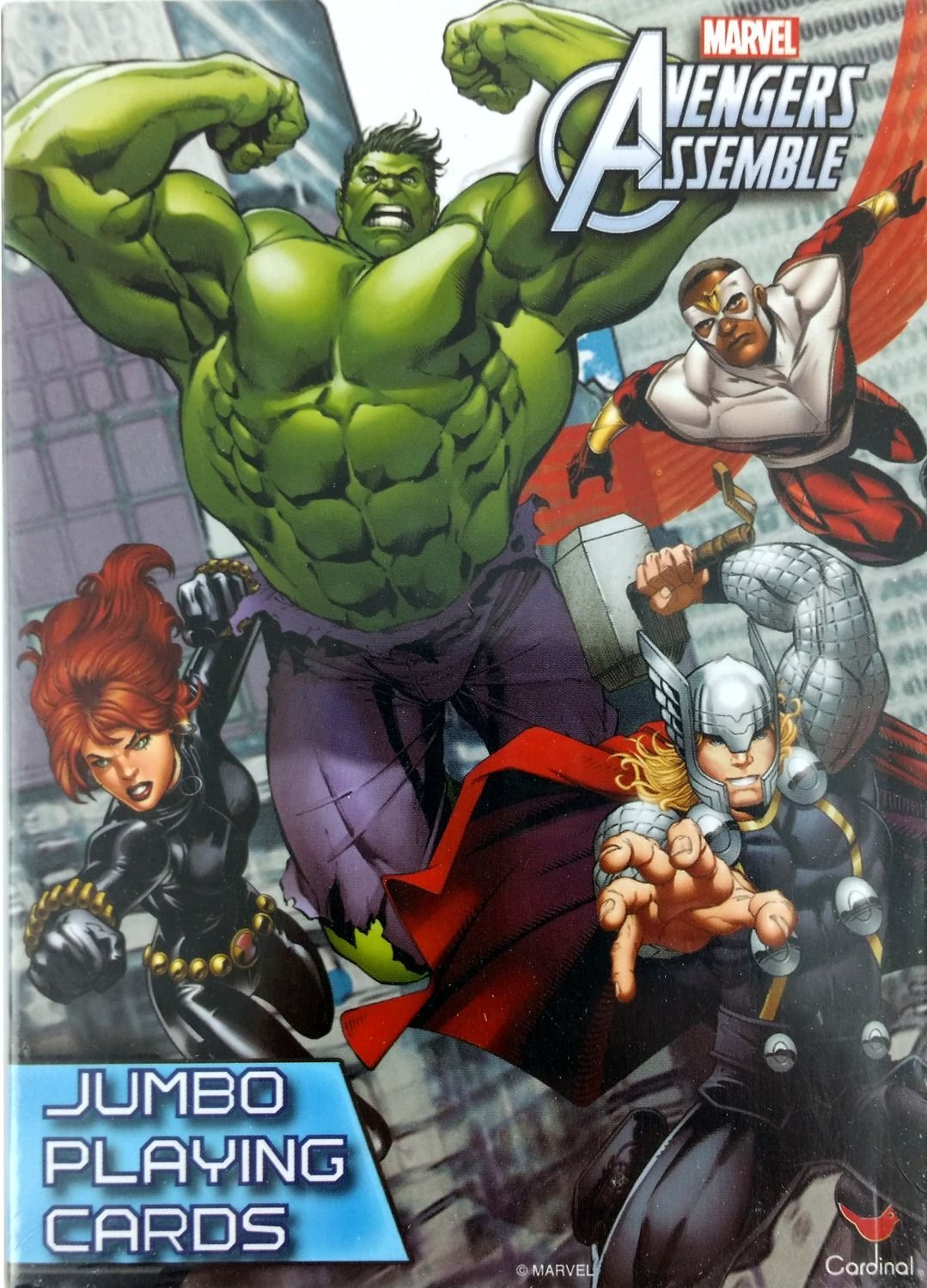 Marvel Comics the Avengers Assemble Jumbo Playing Cards with Instructions for Multiple Games (Crazy 8's, Go Fish, Rummy, Snap and More).