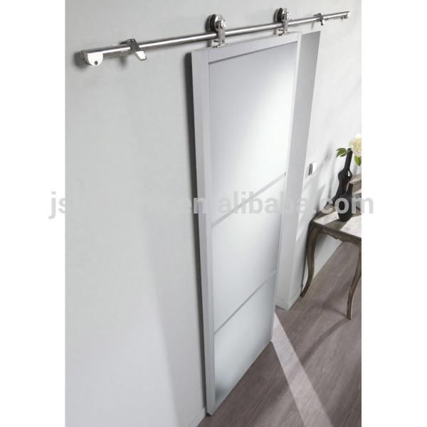 Puerta corredera de granero de madera espesor 3 1 4 for Puertas corredizas metalicas