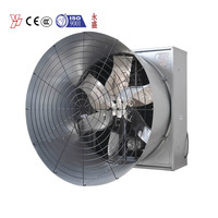 chicken house pig house wall mounted large air flow butterfly type cone exhaust fan for lower market