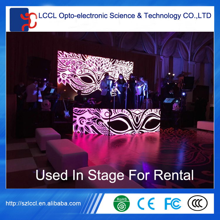 Wholesale indoor full color rental led screen / iron cabinet / aluminum cabinet / P4 led