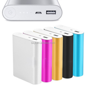 Multi-colour mobile Aluminium Alloy USB Universal Portable Power Bank 10400mah mobile phone power bank