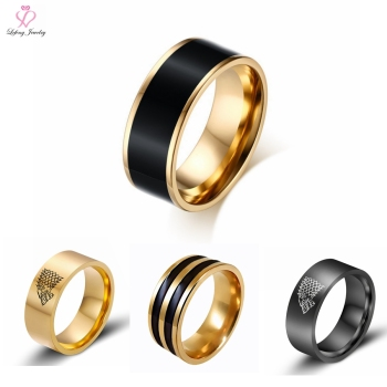 Wholesale Boys Jewelry 316l Stainless Steel Black Ring 316l
