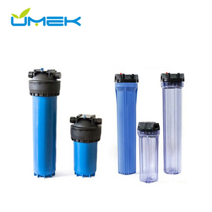 20 inch big slim blue heavy duty transparent filter housing