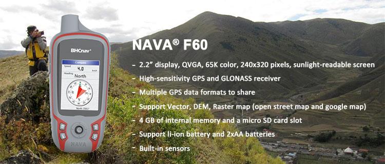 China Manufacturer Bhcnav Handheld GPS Nava F60 Handheld GPS