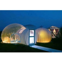 factory price outdoor camping transparent bubble hotel room commercial inflatable bubble dome tent