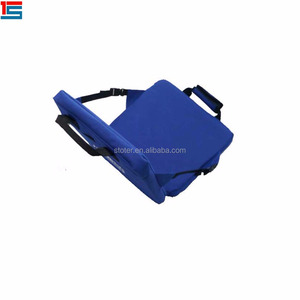 Promotional portable waterproof polyester outdoor stadium seat cushion