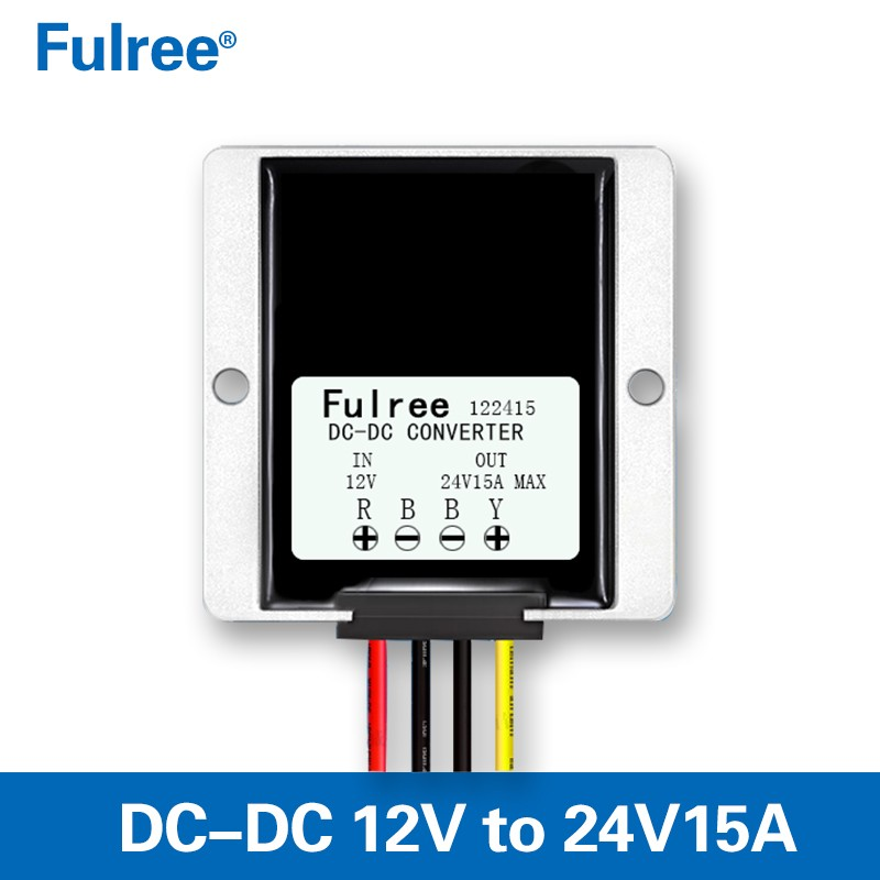 Waterproof DC//DC Car Voltage Converter 12V Step Up to 24V 15A 360W Power Supply