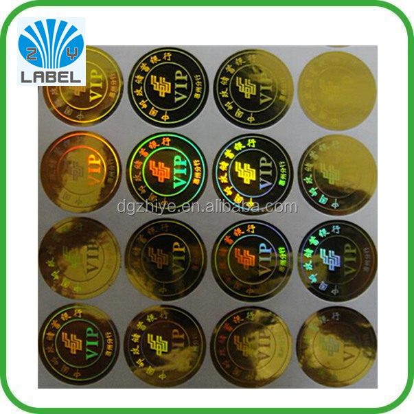 Custom laser effect high-quanlity anti counterfeit sticker label