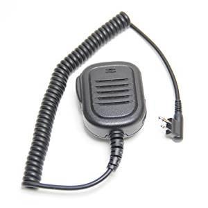 Waterproof Rainproof Heavy Duty 2-Pin Shoulder Remote Speaker Mic Microphone PTT For Motorola Two Way Radio Walkie Talkie 2pin