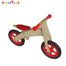 Wooden balance bike with deck toy,wooden balance bicycle toy,wooden walker toy for baby