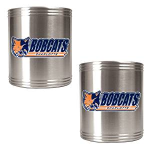 GAP-CZCZ2230-14-Charlotte Bobcats NBA 2pc Stainless Steel Can Holder Set