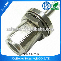 best selling xian rf n type connectors N magenitic connectors and cables xi'an connector with flange high quality