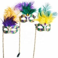 fancy feather Halloween masks