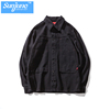 High quality lapel canvas shirt soft shell jacket workwear