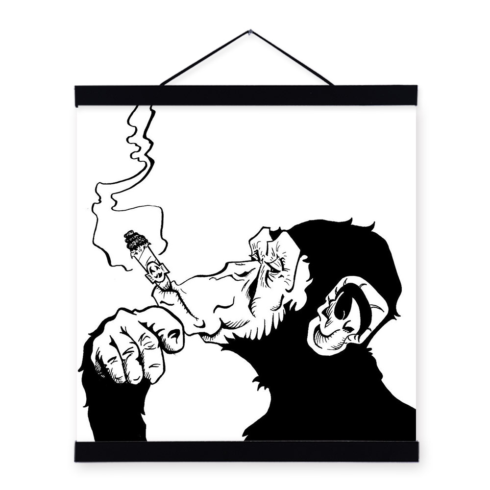 Fashion Black White Smoking Gorilla Animal Art Prints Poster Personalized Wall Picture Canvas Painting No Frame Bar Home Decor Art Print Poster Wall Picturesprint Poster Aliexpress