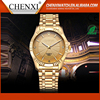 Day&Date Display OEM Wristwatches Man Women Ladies Full Gold Watch Luxury Custom Stainless Steel Watch