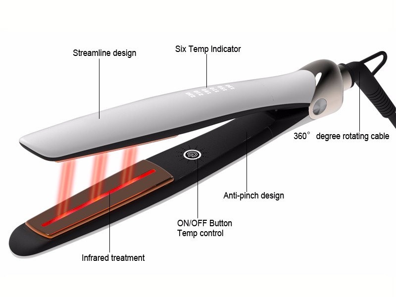 professional salon hairstyling iron digital custom touch-screen top 10 hair straighteners