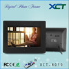 Wholesale bulk wall mounted gif lcd led 8 inch video loop digital picture frame memory cards ce rohs XCT-8010