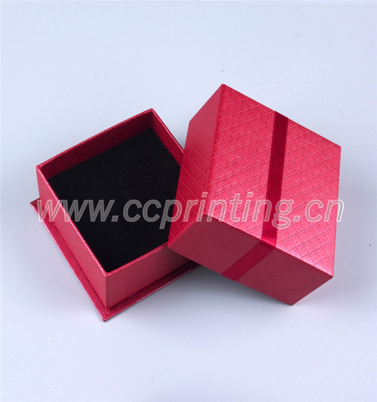 Small Custom Made Jewelry Gift Box with Sponge Foam