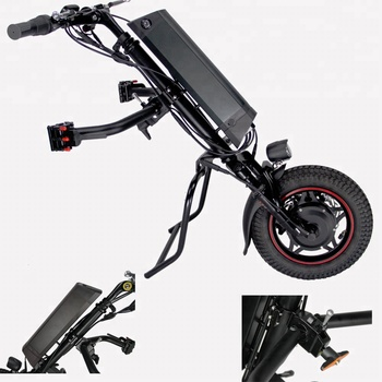 Suspension Electric Handcycle Attachment for Wheelchairs with big battery