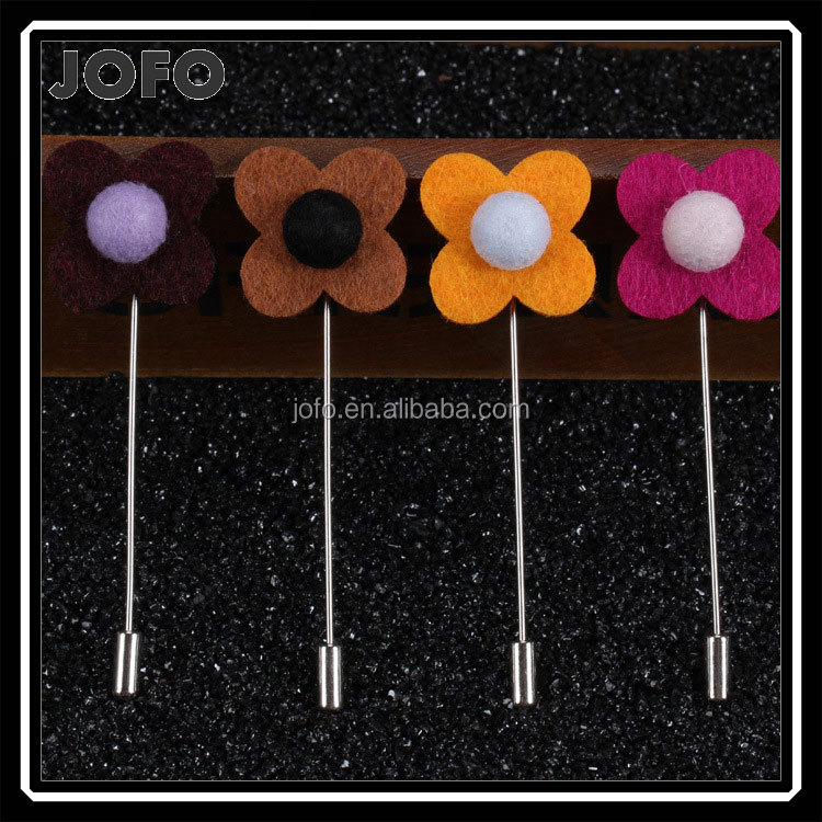 2017 New Classical Rose Lapel Pin Brooch Boutonniere For Men Wedding