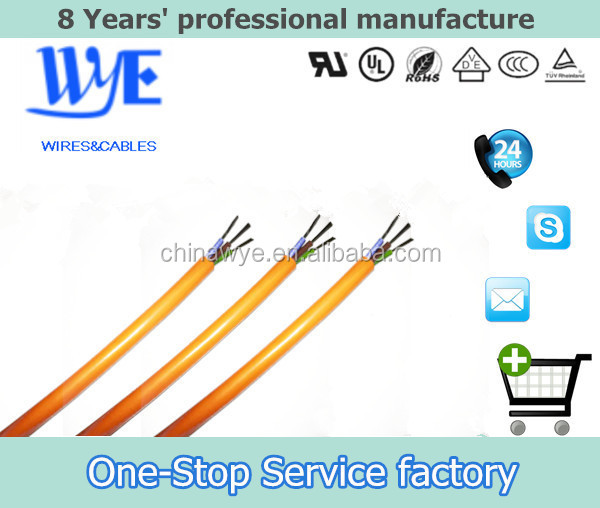 Copper Conductor Material And Silicone Rubber Electrical Wire Flat Cable