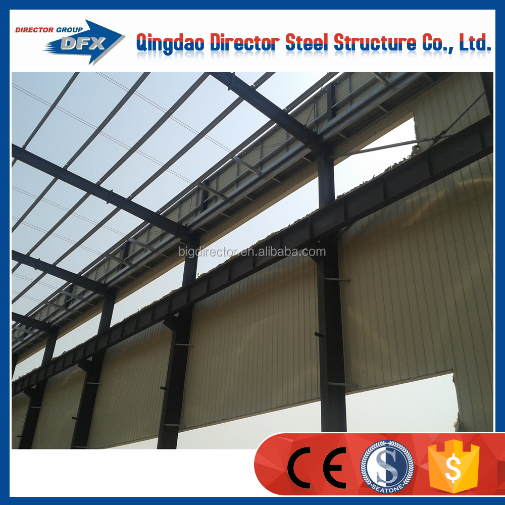 Light Frame Thin-walled Steel Structure Workshop With Roof Solar panel