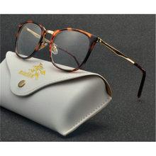Брендовые дизайнерские женские классические оправа для очков очки для чтения кошачьи очки Оптические прозрачные линзы металлические очки ...(Китай)