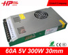 Ultra thin series ac dc constant voltage single output smps 60 ampere 300w 5v programmable dc power supply