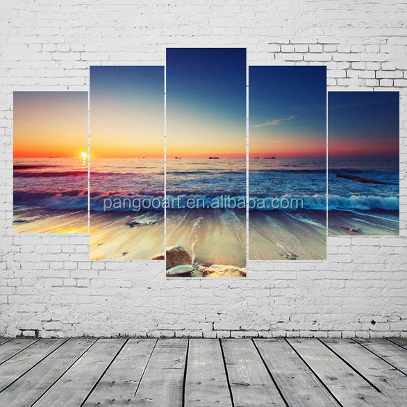 Multi panels printed landscape oil painting decoration wall art