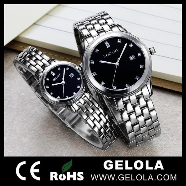 2015 New Year Hot Sale Gift Watches Stainless Steel Jewelry Wholesale From China